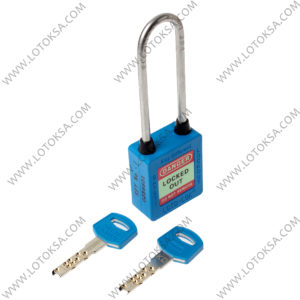 Safety Lockout Padlock: BLUE (LONG)