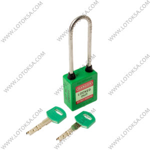 Safety Lockout Padlock: GREEN (LONG)