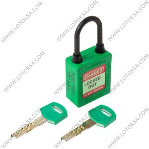 Dielectric Safety Lockout Padlock GREEN