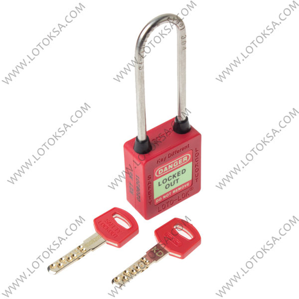 Safety Lockout Padlock: RED LONG