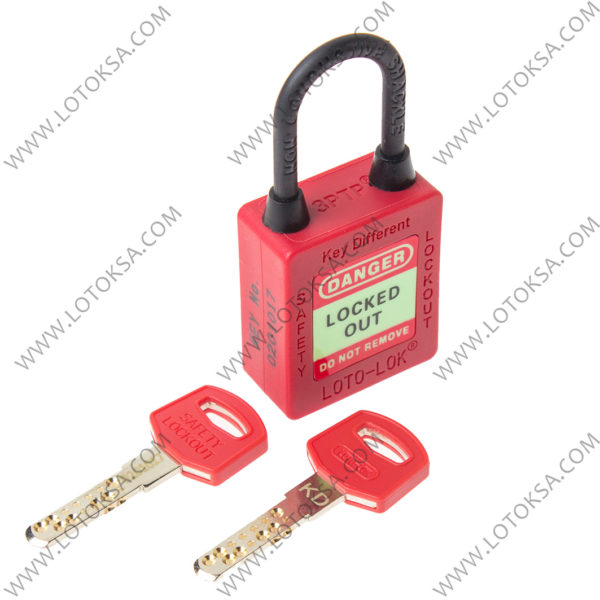 Dielectric Safety Lockout Padlock RED