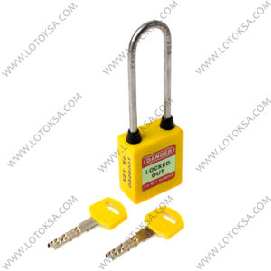 Safety Lockout Padlock: YELLOW (LONG)
