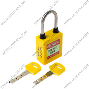 Safety Lockout Padlock YELLOW