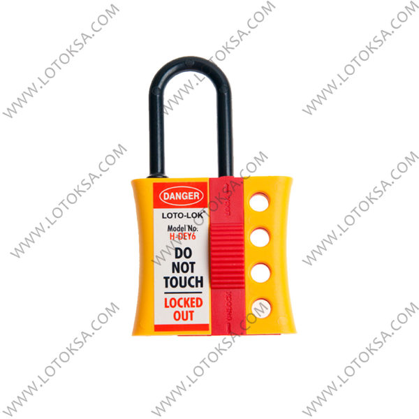 Hasp, Nylon Di-Electric 4 Lock 3.0mm Shackle