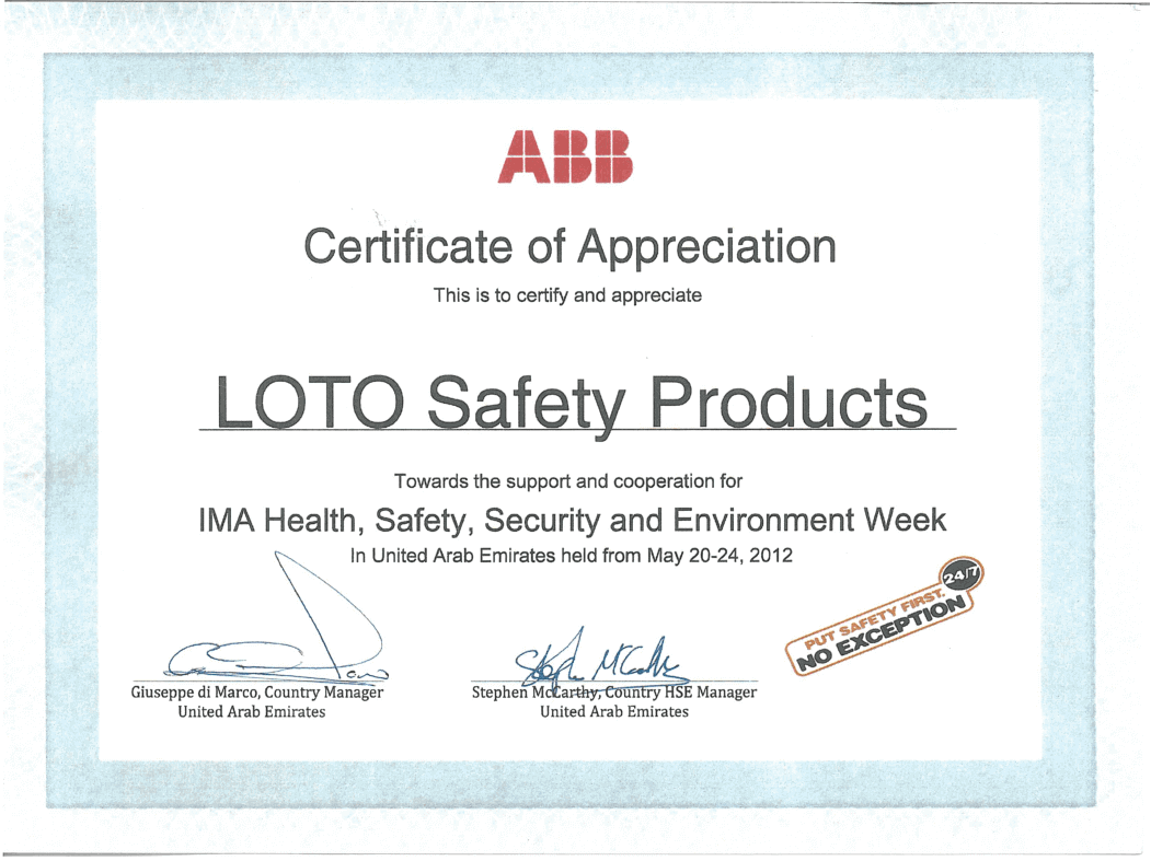 Appreciation Certificates